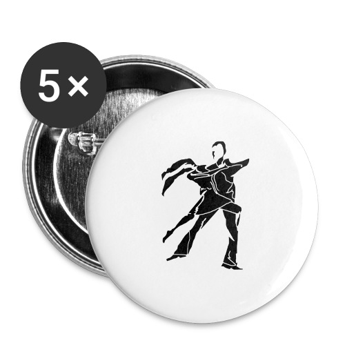 dancesilhouette - Buttons large 2.2''/56 mm (5-pack)