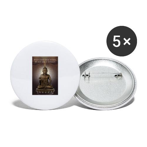 Peace from Within - Buttons large 2.2''/56 mm(5-pack)