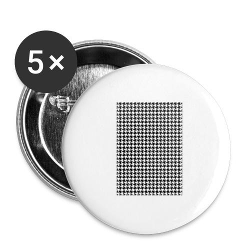 pied de poule v12 final01 - Buttons groot 56 mm (5-pack)