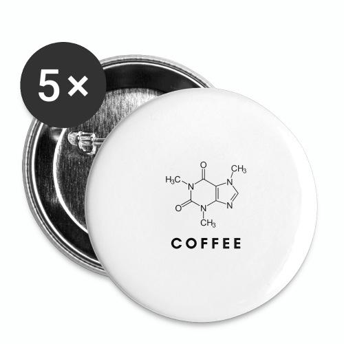 COFFEE - Paquete de 5 chapas grandes (56 mm)