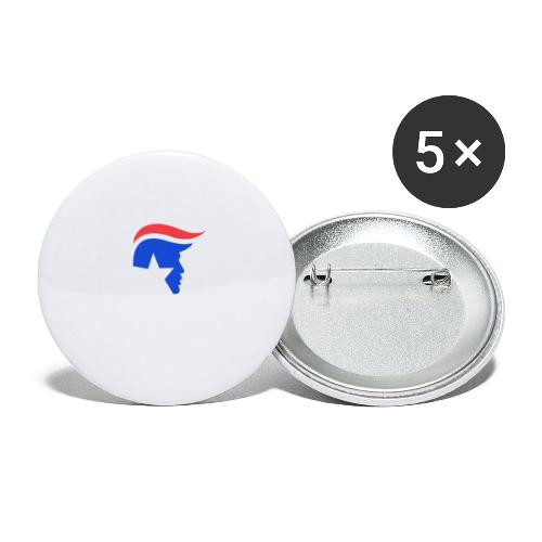 Trump Logo - Buttons groß 56 mm (5er Pack)