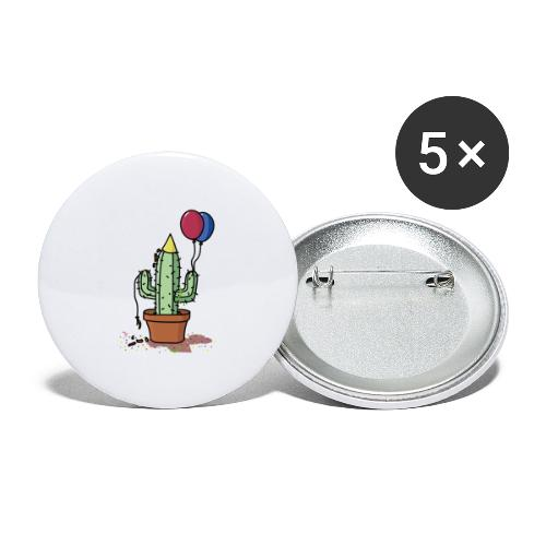 Flowercontest cactus party - Buttons groot 56 mm (5-pack)
