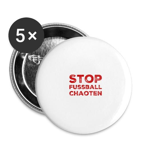 Stop Fussball Chaoten - Buttons groß 56 mm (5er Pack)