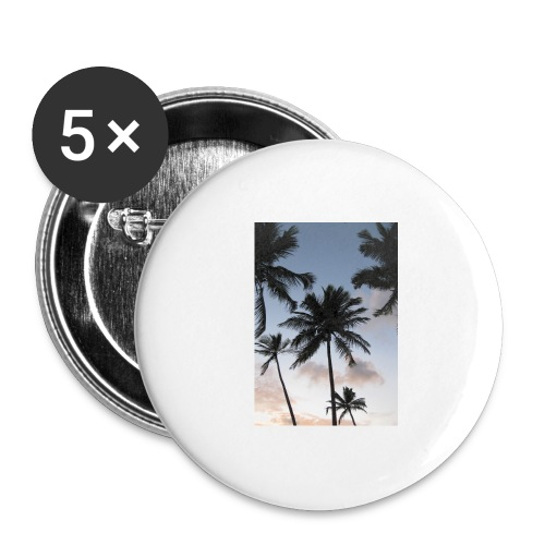 PALMTREES DOMINICAN REP. - Buttons groot 56 mm (5-pack)