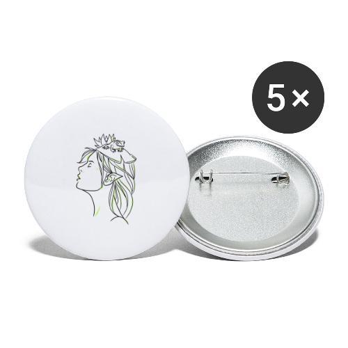 FILLE GRENOUILLE - Lot de 5 grands badges (56 mm)