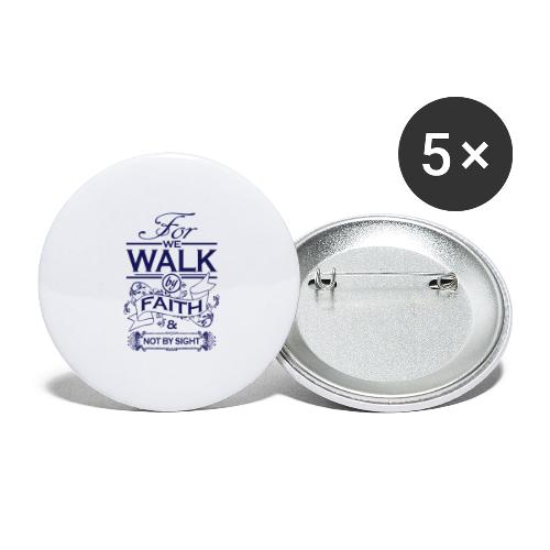walk navy - Buttons large 2.2''/56 mm(5-pack)