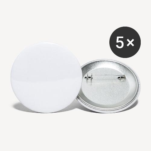 walk white - Buttons large 2.2''/56 mm (5-pack)