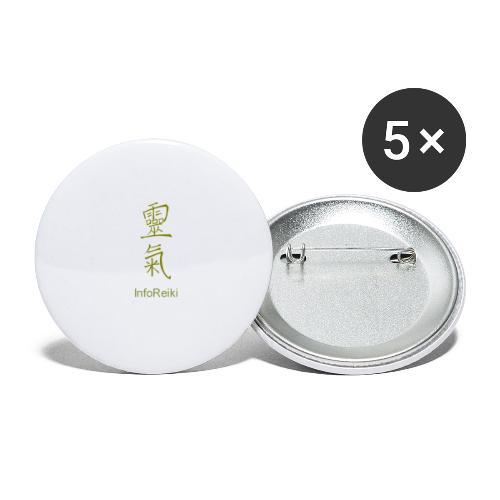 kanji oro - Confezione da 5 spille grandi (56 mm)