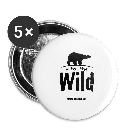 Into the wild (version dark) - Lot de 5 grands badges (56 mm)