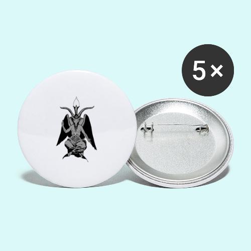 baphomet - Lot de 5 grands badges (56 mm)
