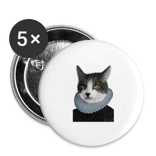 Noble Cat - Buttons groß 56 mm (5er Pack)