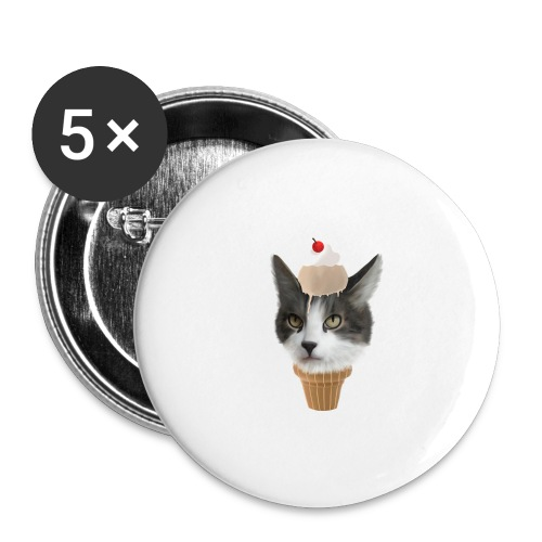 Ice Cream Cat - Buttons groß 56 mm (5er Pack)