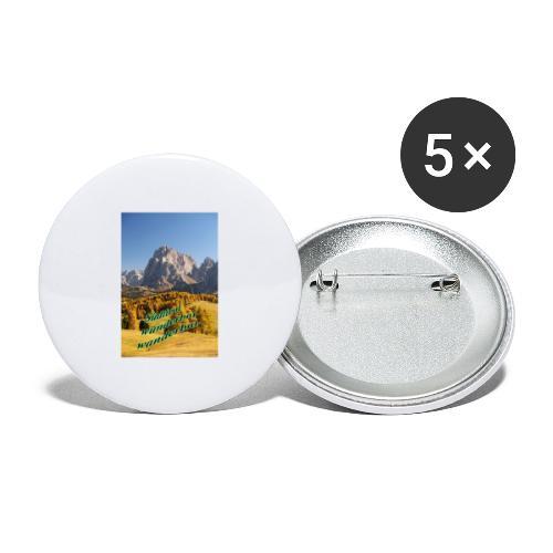 Südtirol - wunderbar wanderbar - Buttons groß 56 mm (5er Pack)