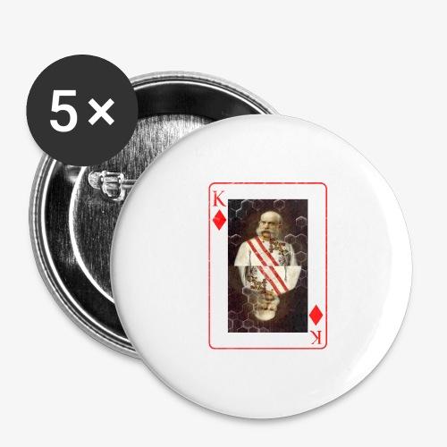 Kaiser Franz von Österreich spielkarte - Buttons groß 56 mm (5er Pack)