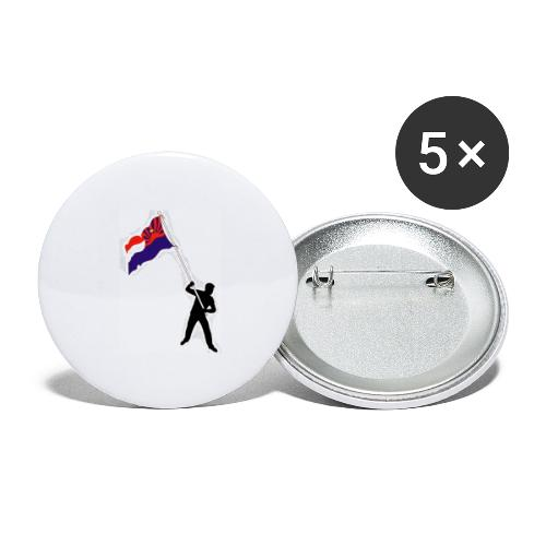 we need free dom - Buttons large 2.2''/56 mm(5-pack)