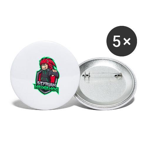 styrian hedgehog Logo - Buttons groß 56 mm (5er Pack)
