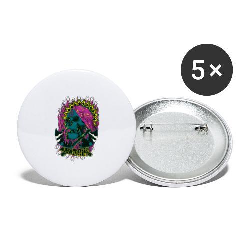 Purple Anarchy - Paquete de 5 chapas grandes (56 mm)