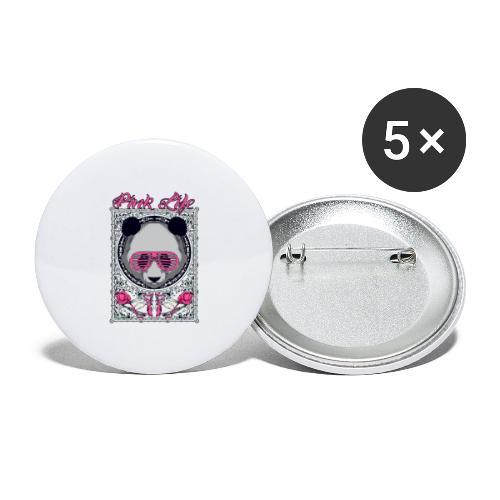 Pink Life - Paquete de 5 chapas grandes (56 mm)