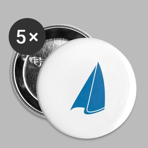Segel Einfarbig - Buttons groß 56 mm (5er Pack)