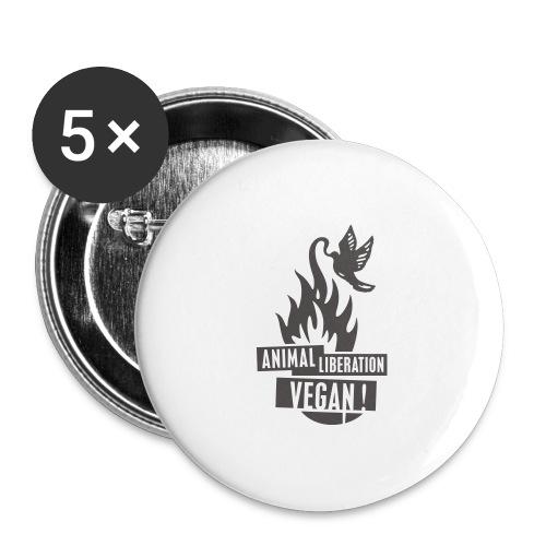 veganrevolution01_200x300 - Buttons groß 56 mm (5er Pack)