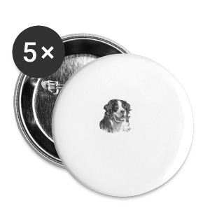 berner sennen hund S - Buttons/Badges stor, 56 mm