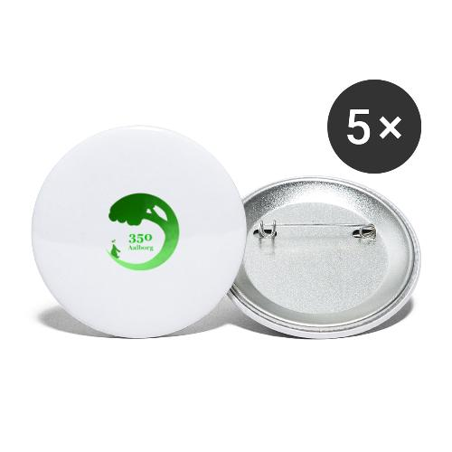 350 Aalborg logo - Buttons/Badges stor, 56 mm (5-pack)