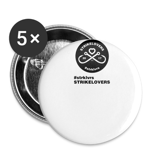 StrikeLovers Circle - Buttons groß 56 mm (5er Pack)