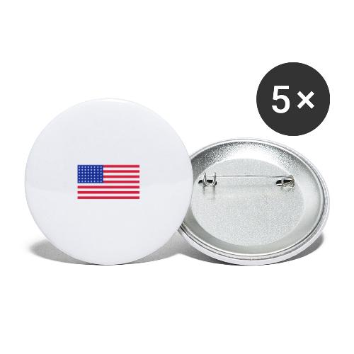 AVM 48 star flag in 3 color RGB VECTOR - Buttons groot 56 mm (5-pack)