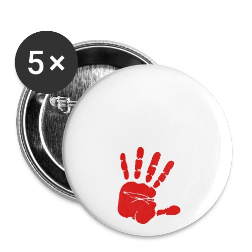Handabdruck - Buttons groß 56 mm (5er Pack)