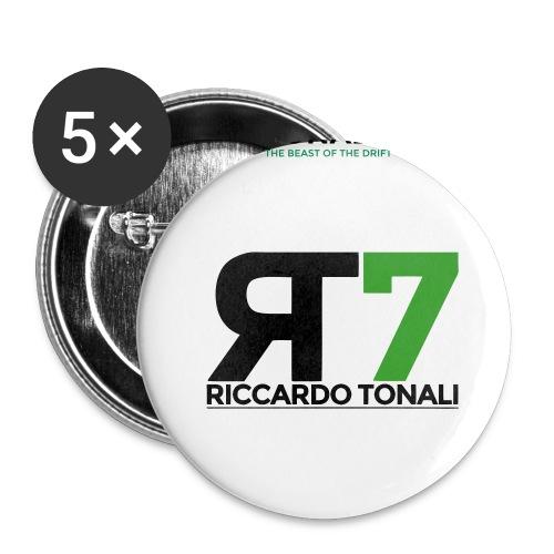 logo_riccardoTonali_new - Confezione da 5 spille grandi (56 mm)