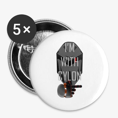 I'm with Cylon - Stor pin 56 mm (5-er pakke)