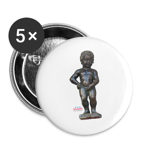 BiG REAL mannekenpis ♀♂ | 小便小僧 - Lot de 5 grands badges (56 mm)
