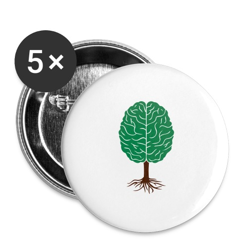 Brain tree - Buttons groot 56 mm (5-pack)