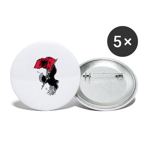 Albanischer Adler - Buttons groß 56 mm (5er Pack)
