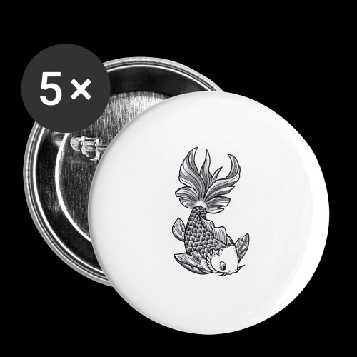 Pesce Tattoo Flash - Confezione da 5 spille grandi (56 mm)