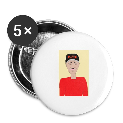 DJ , new shirt - Stora knappar 56 mm (5-pack)