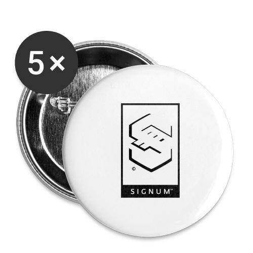 signumGamerLabelBW - Buttons large 2.2''/56 mm(5-pack)