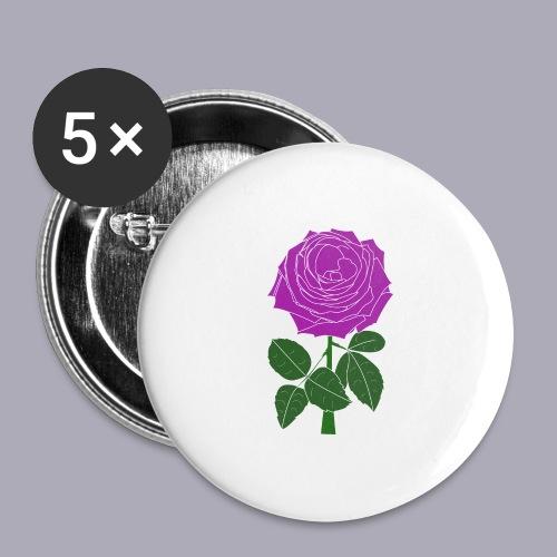 Landryn Design - Pink rose - Buttons large 2.2''/56 mm(5-pack)