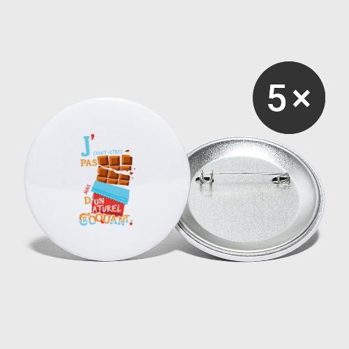 Tablettes de Chocolat - Lot de 5 grands badges (56 mm)
