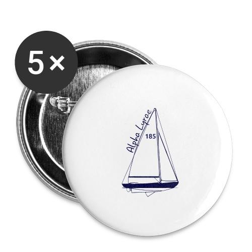 dos - Lot de 5 grands badges (56 mm)