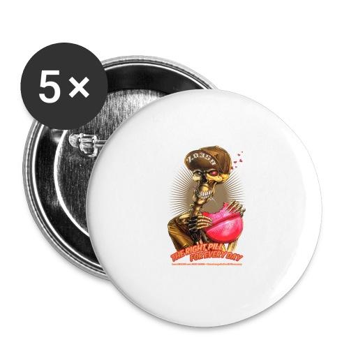 headCRASH pills 2 - Buttons groß 56 mm (5er Pack)