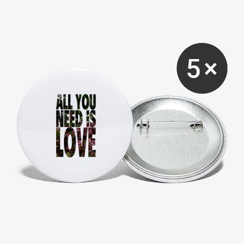 All You need is love - Przypinka duża 56 mm (pakiet 5 szt.)