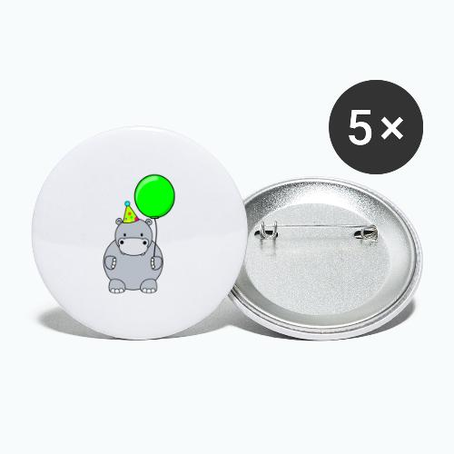 Henri Hippo Party - Appelsin - Stora knappar 56 mm (5-pack)