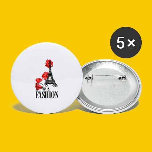 PARIS FASHION - Lot de 5 grands badges (56 mm)
