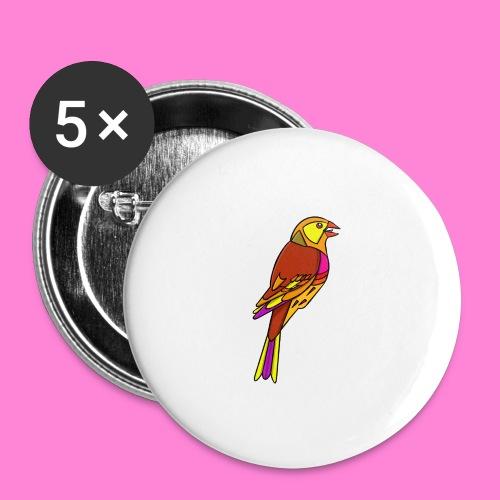 Geelgors illustratie - Buttons groot 56 mm (5-pack)