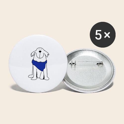 Retriever mignon - Lot de 5 grands badges (56 mm)