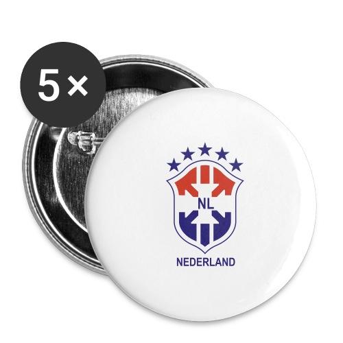 Brasil NL - Buttons groot 56 mm (5-pack)