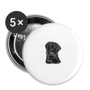 flatcoated retriever p - Buttons/Badges stor, 56 mm