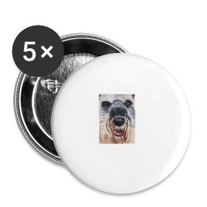 schnauzer - Buttons/Badges stor, 56 mm