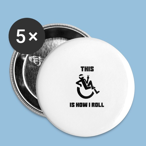 Howiroll10 - Buttons groot 56 mm (5-pack)